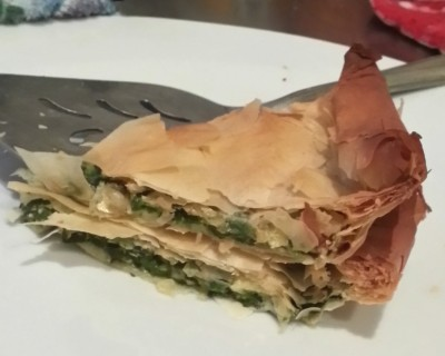 Spanak means Spinach, and Pita means Pie