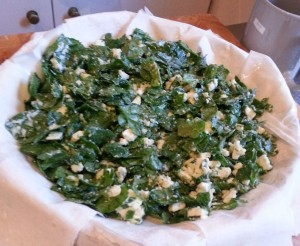 spinach and cheese mix